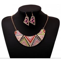 Conjunto collar y pendientes Cancún