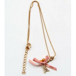 Gold Color Necklace with Eiffel Tower Pendant
