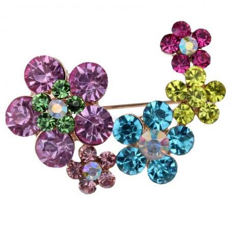 Broche Flores multicolor