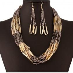 Conjunto collar y pendientes Africa