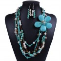 Bohemia Semi-Precious Stone Multilayer jewelry set Hawaii
