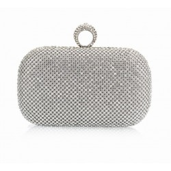Clutch with crystals