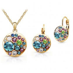 Round Crystal Jewelry Set Rimini