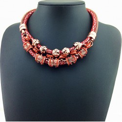 Chinese Red Lucky Fashion Necklace Shanghai