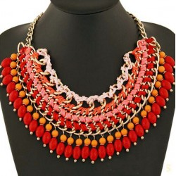 Multilayer Briaded Rope Chain Necklace Mozambique