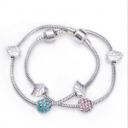 European style bracelet with charms