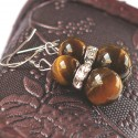 Natural Stone Tiger's Eye Earrings