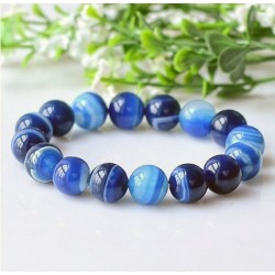 Natural Blue Agate Stone Bracelet