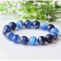 Natural Blue Agate Stone Bracelet