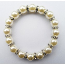 Bracelet with Acrylic Pearls Formentera