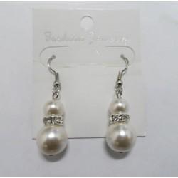 Pendientes con perla sintética Manacor