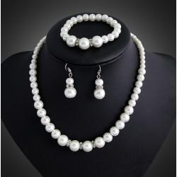 Conjunto de perlas sintéticas Manacor