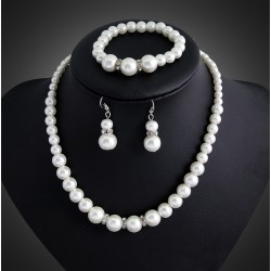 Jewelry set with Acrylic Pearls Manacor