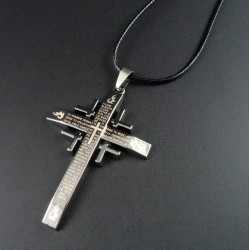 Necklace with Catholic Cross Pendant