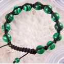 Adjustable 10mm Round Malachite Beads Bracelet