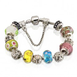 Multi-color Murano Glass Beads bracelet