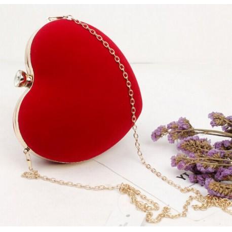 Clutch evening bag Heart