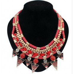 Ethnic Tribal Triangle Necklace