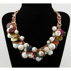 Shell and Pearl Choker Necklace