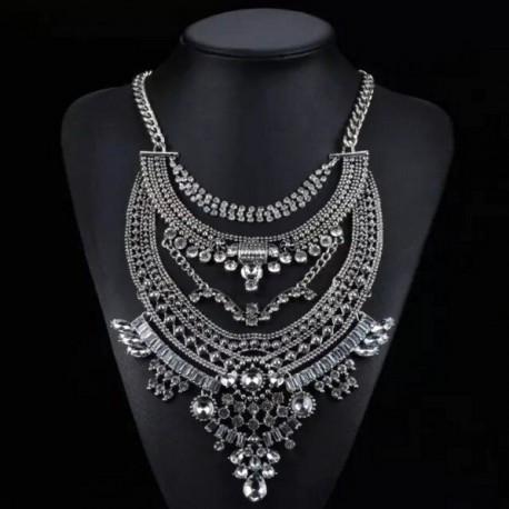 Crystal Beaded Maxi Necklace Asilah