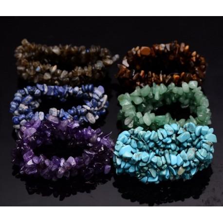Natural irregular stones bracelet