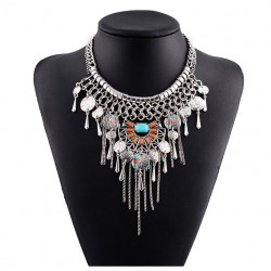 Coin Tassels Maxi Necklace Montechiaro