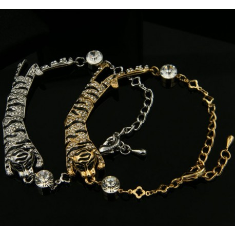 TIGER silver or gold plated bracelet