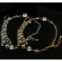 Silver or Gold Plated Tiger Bracelet