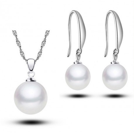 18 kgp gold plated pearl jewelry set Classic