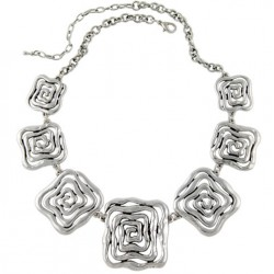 Ethnic Silver Plated necklace Babilonia