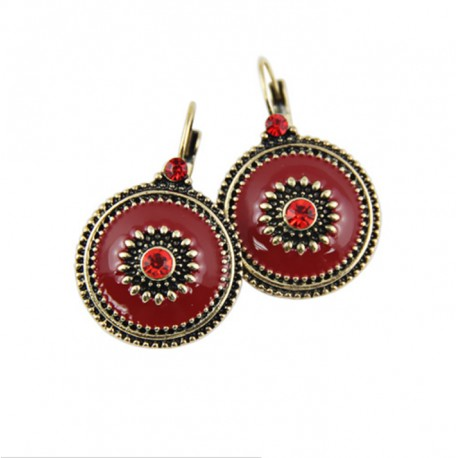 Vintage Women Antique Gold plated earrings