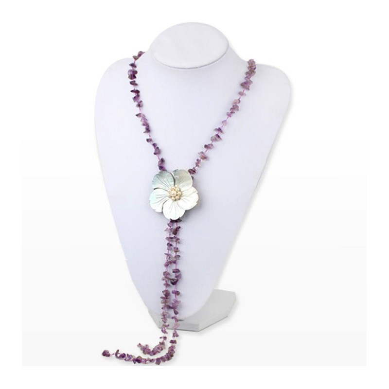 Mini collar con flores y perla l3KLb - rotundity.radiohertz.es