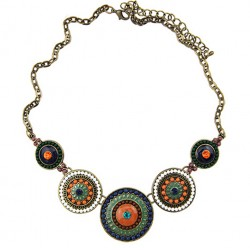 Colorful Beads Choker Necklace Retro