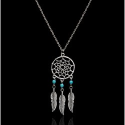 Turquoise Dream Catcher Pendant Necklace