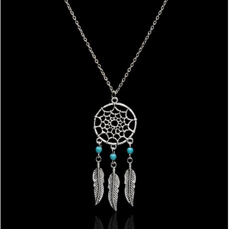 Turquoise Dream Catcher Pendant Necklace