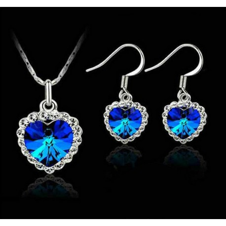 Jewelry set necklace and earrings Titanic
