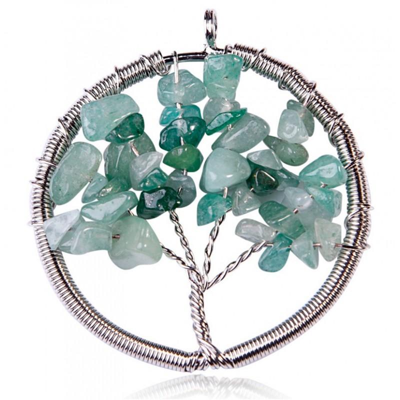 tree of life natural stone pendant