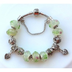 Charmilia beads Bracelets with silver charms