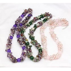 Necklace with semiprecious stone beads Tahiti