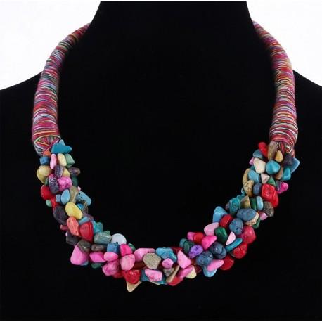 necklace Trafalger with semiprecious stones