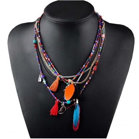 Feather Necklace Belice