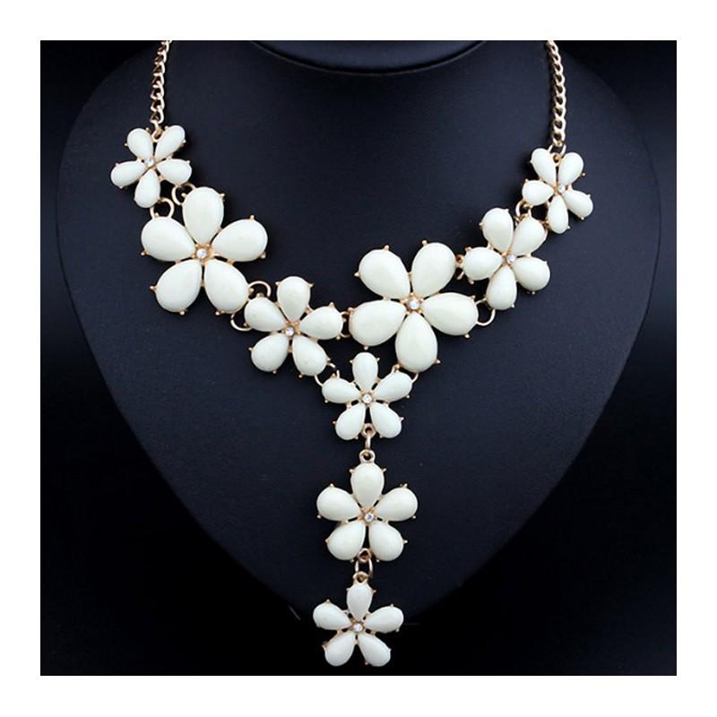 Muchos Blancos Collar Con Flores 0wnOPk