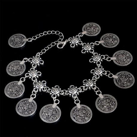 Vintage Bohemian Bracelet with Coins
