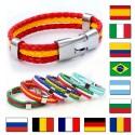 National Flags PU Leather Bracelets