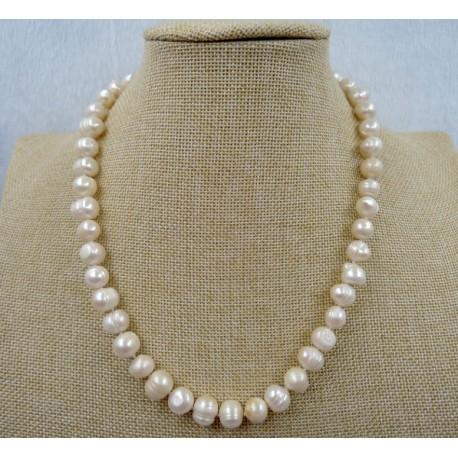 amplia selección de colores y diseños descuento hasta 60% Precio reducido collar de perlas aguadulce 8-9mm