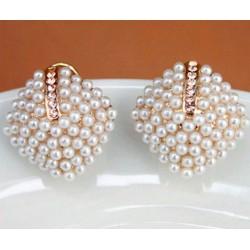 Pendientes con perlas y cristales