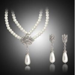 Conjunto collar y pendientes Gran Gatsby