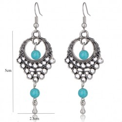 Retro Dream Catcher Turquoise dangle Earrings