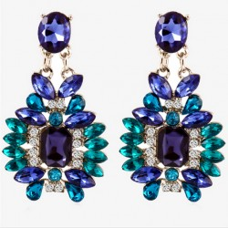 Earrings with Blue Crystals