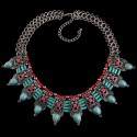 Ethnic Choker Necklace Azzurro Mare